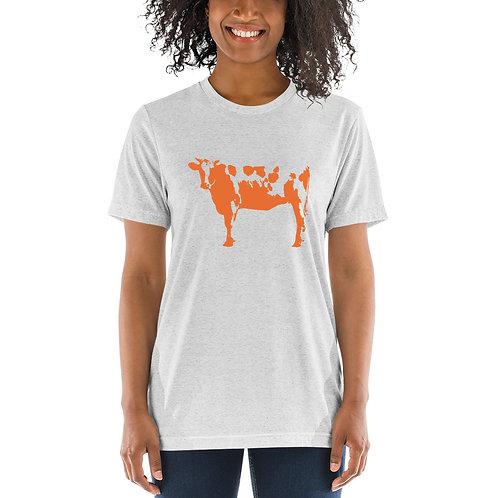 Orange Cow Short sleeve t-shirt