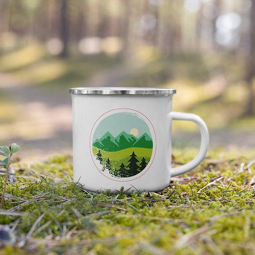 Mountain Enamel Mug