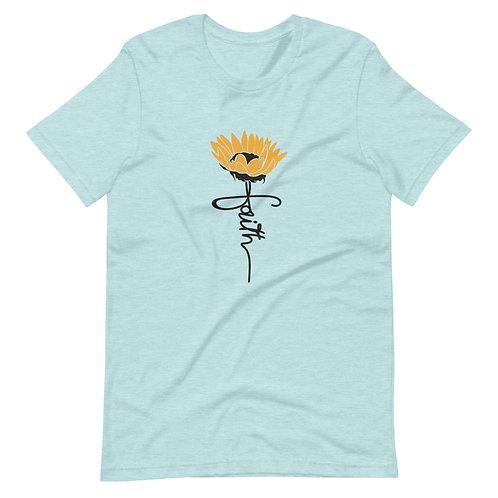 Faith Sunflower Short-Sleeve Unisex T-Shirt