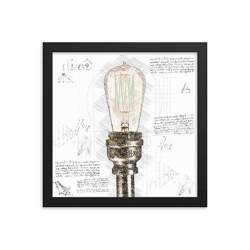 Light Bulb Framed poster