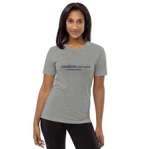 """Couillon"" Cajun French Short sleeve t-shirt"