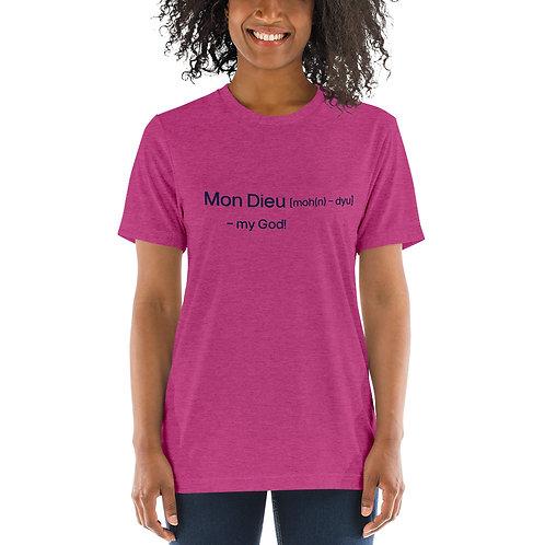 """My God"" Cajun French Short sleeve t-shirt"