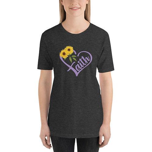 Faith Heart Short-Sleeve Unisex T-Shirt