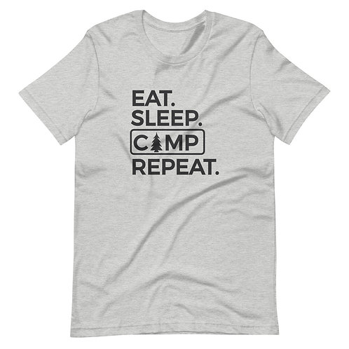 Eat Sleep Camp Short-Sleeve Unisex T-Shirt