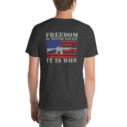 Freedom is Won Short-Sleeve Unisex T-Shirt