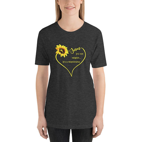 Jesus Sunflower Short-Sleeve Unisex T-Shirt