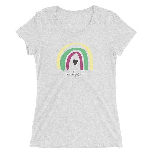 Ladies' be happy short sleeve t-shirt