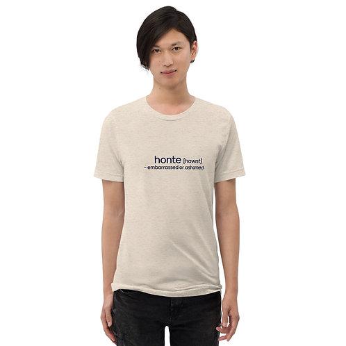 """Embarrassed"" Cajun French Short sleeve t-shirt"