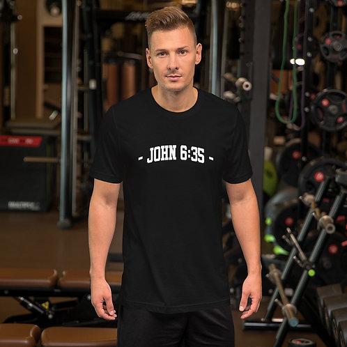 John 6:35 Short-Sleeve Unisex T-Shirt