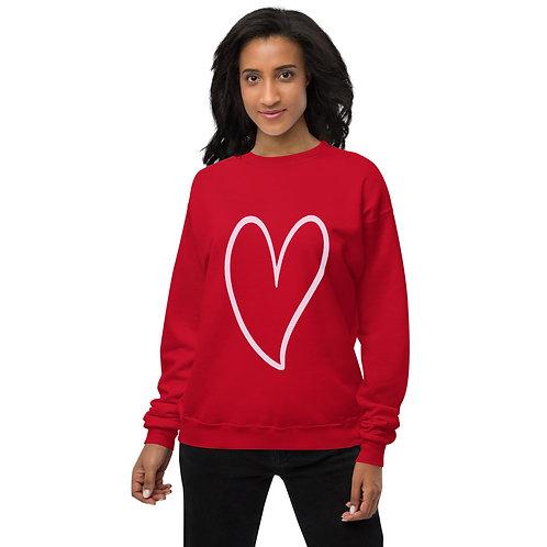 Heart fleece sweatshirt