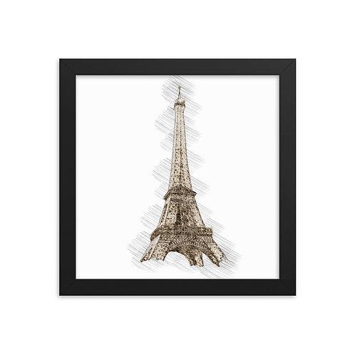 Eiffel Tower Framed poster