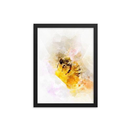 Honey Bee Watercolor Framed poster