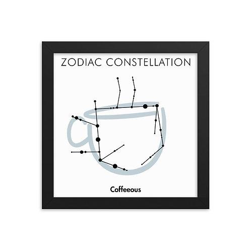 Zodiac Coffeeous Framed poster