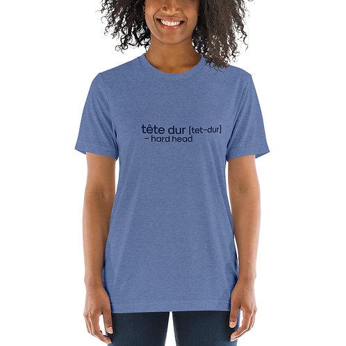 """Hard Head"" Cajun French Short sleeve t-shirt"