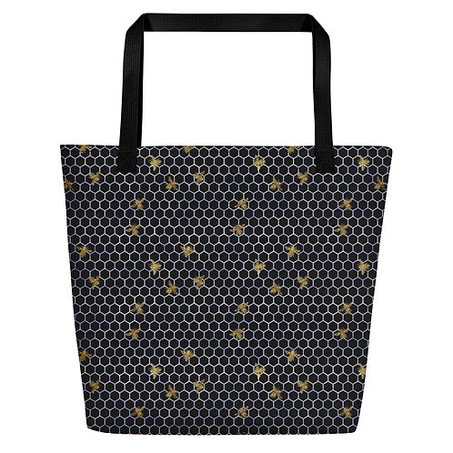 Serenity Beehive and Bees Beach Bag