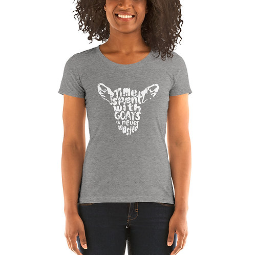 Time Spent With Goats Ladies' short sleeve t-shirt