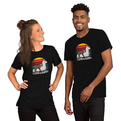 Sloth and Llama Short-Sleeve Unisex T-Shirt