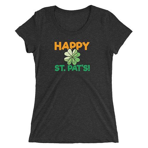 St Patty's Happy St. Pat's Ladies' short sleeve t-shirt