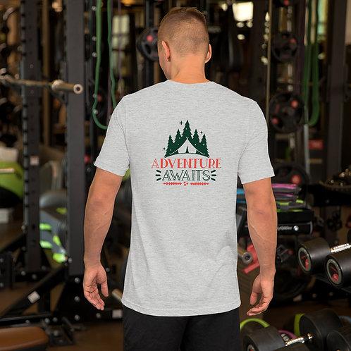Adventure Awaits Camping Short-Sleeve Unisex T-Shirt