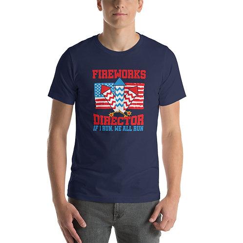Fireworks Director Short-Sleeve Unisex T-Shirt