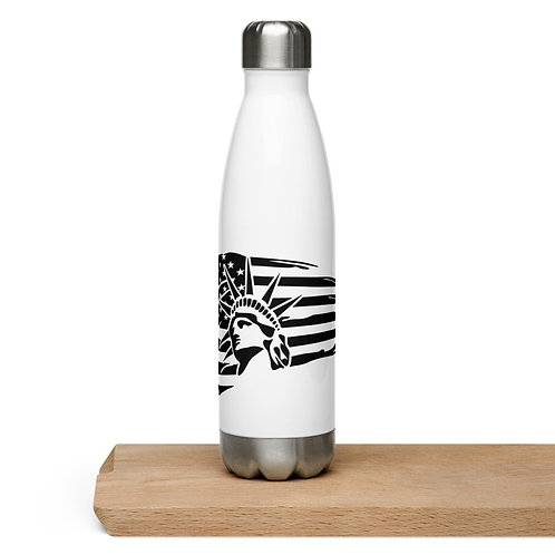 Land of the Free Stainless Steel Water Bottle
