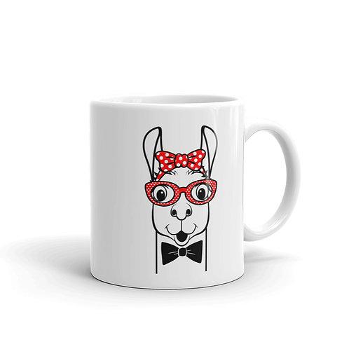 Llama White glossy mug