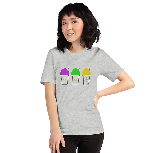 Mardi Gras Snowballs Short-Sleeve Unisex T-Shirt