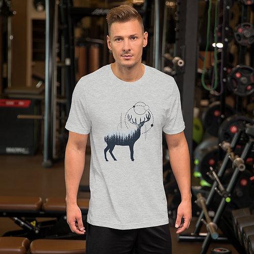 Geometric Deer Short-Sleeve Unisex T-Shirt