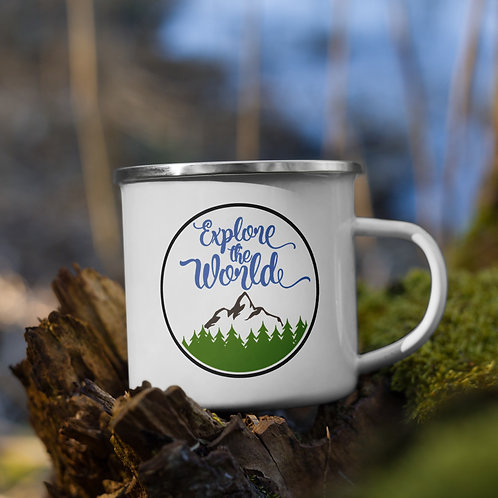 Explore the World Enamel Mug