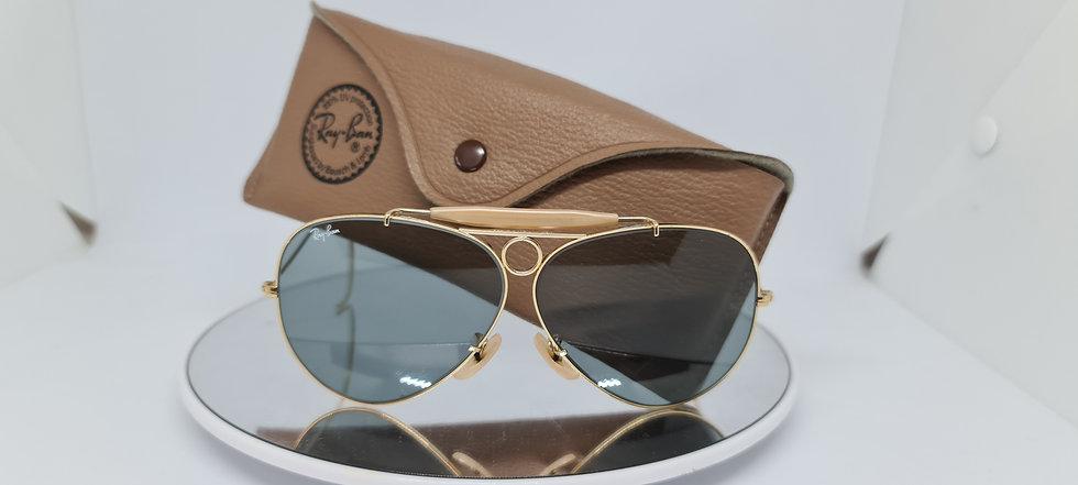 Vintage B&L Ray-Ban Shooting Glass G31 Grey 62mm Sunglasses