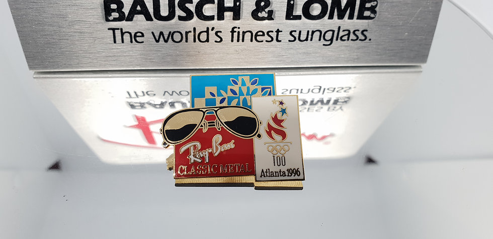 Vintage B&L Ray-Ban Classic Metal Aviator Olympic Pin