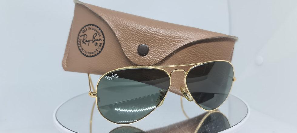 Vintage B&L Ray-Ban Glass Polarised Large Metal 58mm Sunglasses