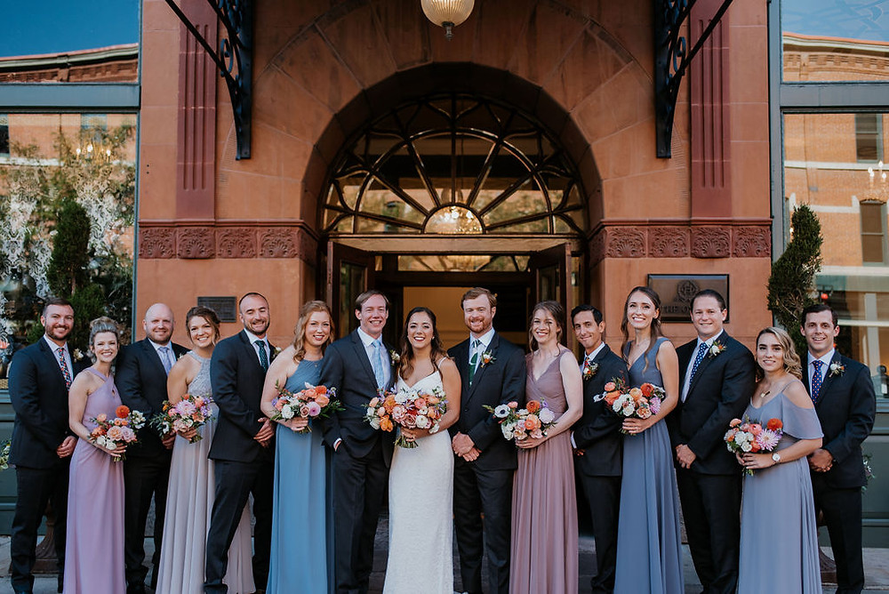 wedding at the oxford hotel bridal party
