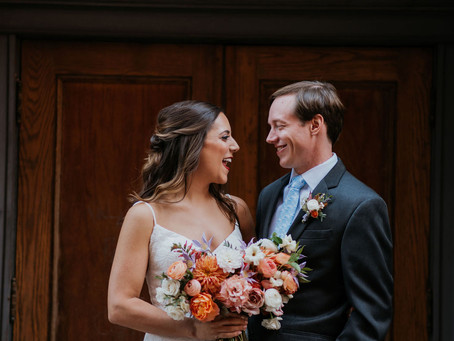 City wedding at the Oxford Hotel in Denver, CO