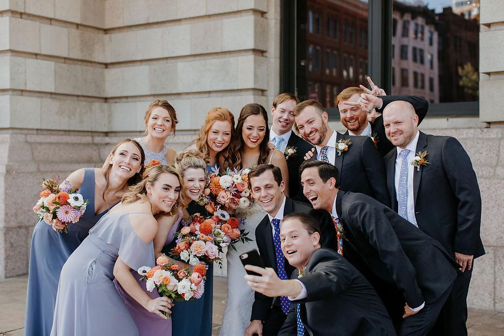 union station denver colorado wedding party
