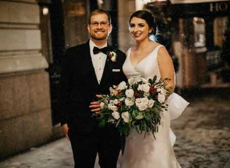 Magical Winter Wedding in Hotel Teatro - Denver, CO