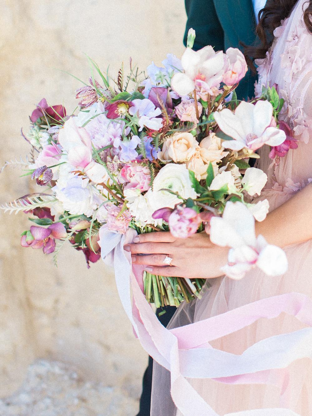 Textural blush bouquet
