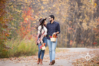 Stunning Engagement shots for these love birds as the autumn leaves, turn their brilliant hue, two lovers will join and say I do to the start of their lifetime journey. Its magical to find someone who comes along and warms your soul by lighting an eternal fire.From getting to know their love story to their breathless moments in this session, we are ecstatic to capture every step of their biggest day.