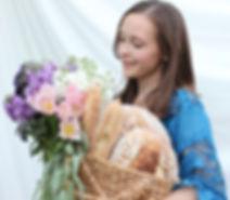 Organic bread, naturally leavened, sourdough, organic flowes, flower farm, local flowers, flower delivery Fresno/Clovis