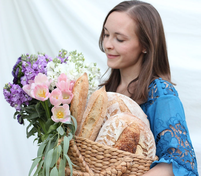 Organic bread, naturally leavened, sourdough, organic flowes, flower farm, local flowers, flower delivery Fresno/Clovis