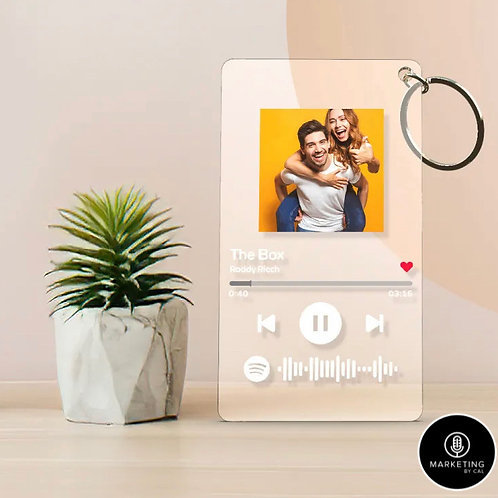 Spotify Code Plaque KeyChain