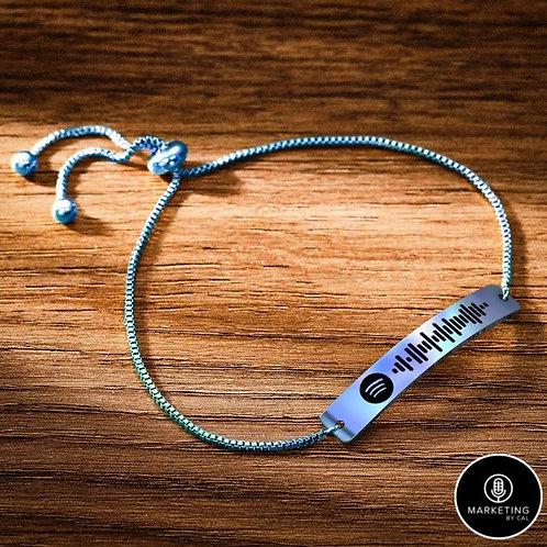 Spotify Code Bracelet- Song Engraved Bar Bracelet