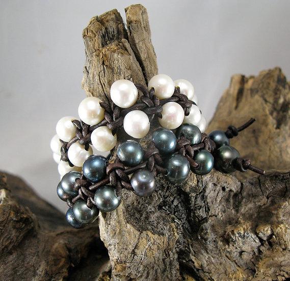 Double row Fresh water Pearl Bracelet