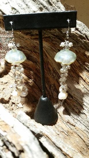 Jelly Fish Freshwater Pearl Earrings