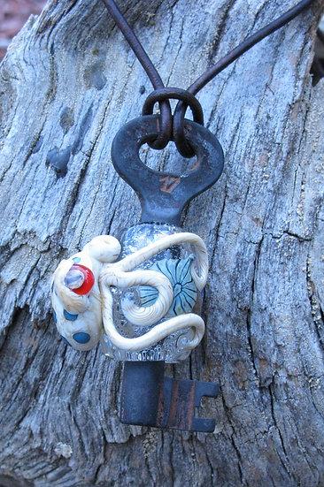 Octopus on Antique Key