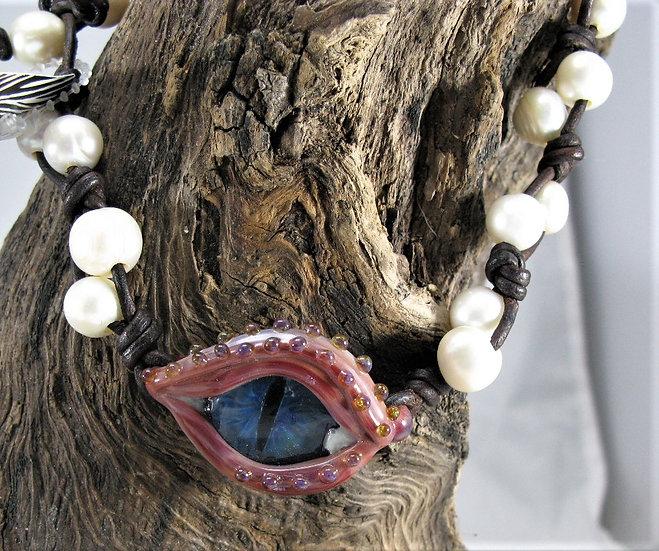 Double Wrap Dragon Eye Bracelet