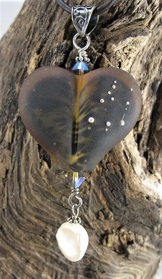 Leopard pattern inside Heart