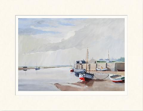 Low Tide at Blakeney - mounted print