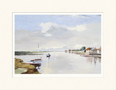 East Quay in Cox's day - mounted print