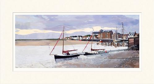 Wells quay at dawn - mounted print